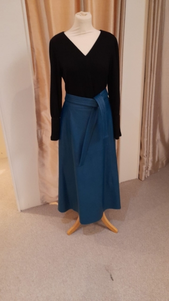 CAMELOT PLEATHER SKIRT TEAL 2310